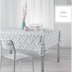 Ubrusy na jídelní stůl s cik cak vzorem