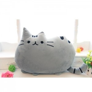 Dekorační polštář šedá kočka