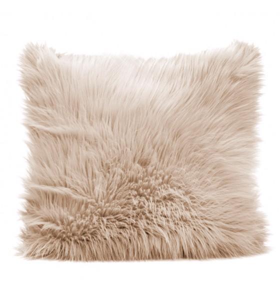 Béžový dekorační povlak na polštář do obýváku