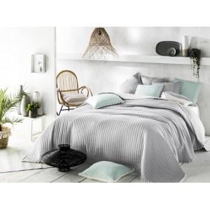 Přehoz na postel šedý