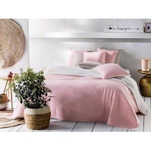 Přehoz přes postel růžový