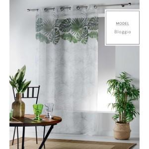 Záclony s motivem zelených listů