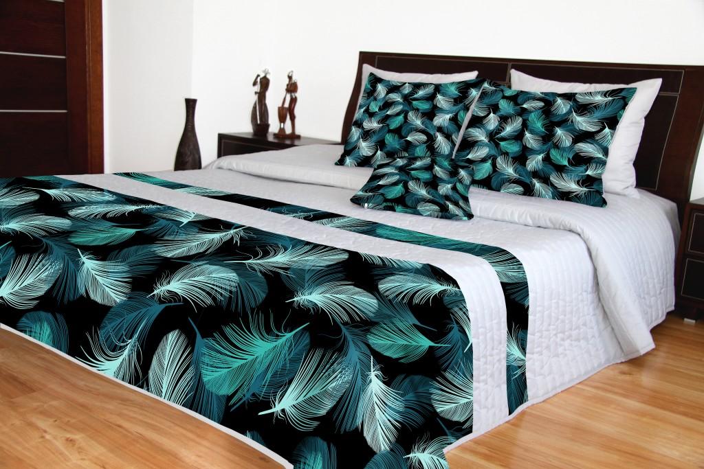Přehoz na postel s moderním potiskem
