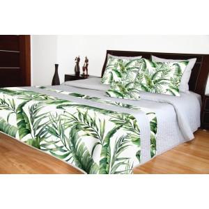 Luxusní přehozy na postel s potiskem listů