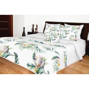 Přehoz na postel jednolůžko s květy