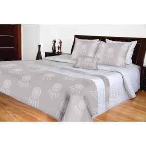 Luxusní přehozy na postel šedé lapač snů