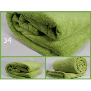 Luxusní deky z mikrovlákna rozměr 160 x 210cm zelená č.34