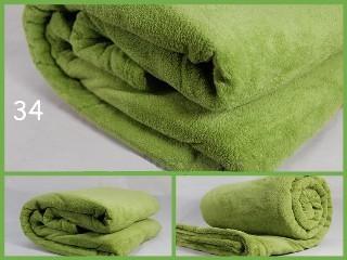 Teplá luxusní deka zelené barvy