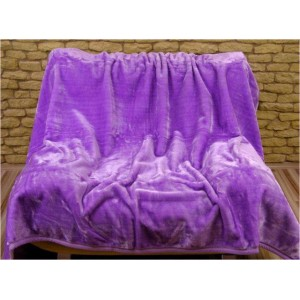 Jemné Hřejivé deky fialové barvy