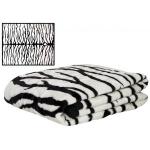 Přehoz na gauč s motivem zebry