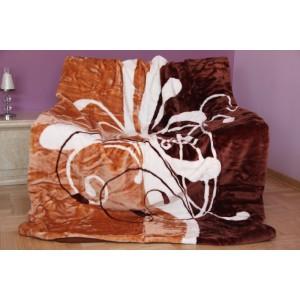 Bílo hnědá deka