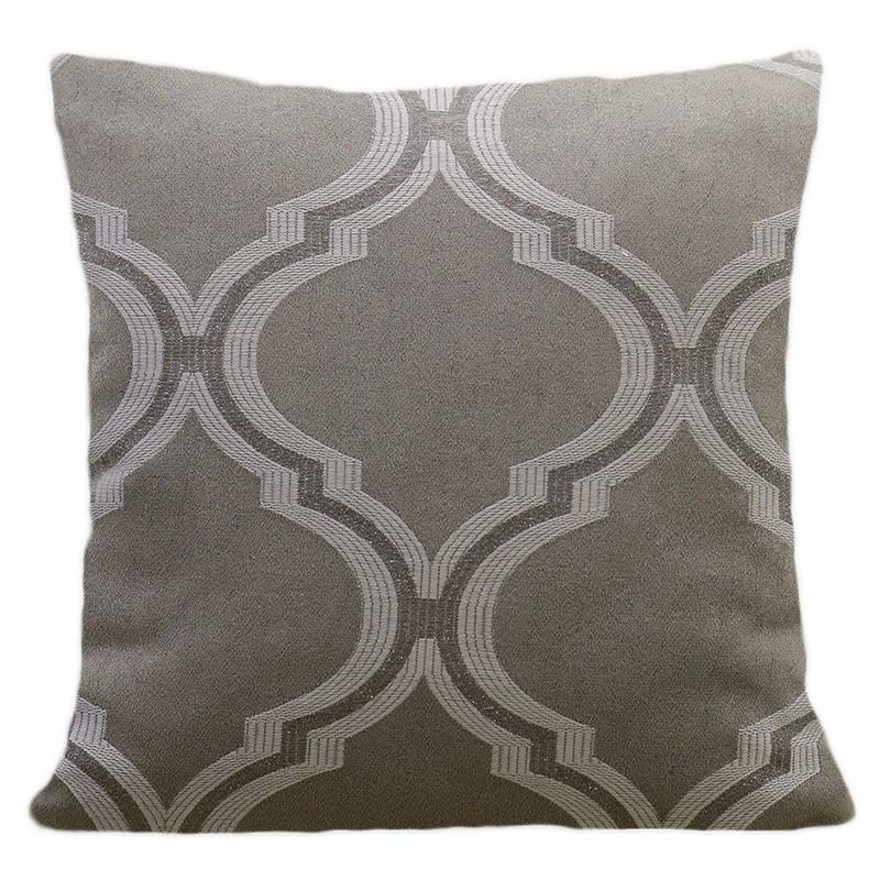 Dekorační povlak na polštář s moderním vzorem v šedé barvě