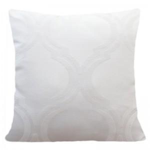 Dekorační povlečení na polštář s jemným vzorem v bílé barvě