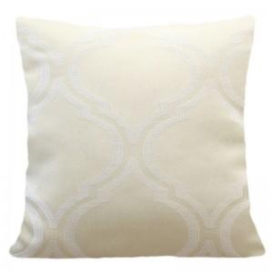 Dekorační povlak na polštáře krémové barvy a moderním vzorem