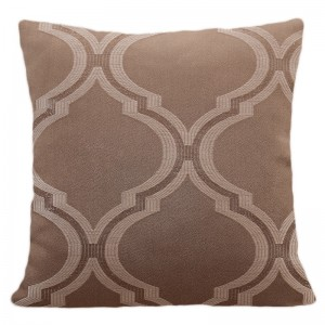 Dekorační povlečení na polštář v hnědé barvě s moderním vzorem