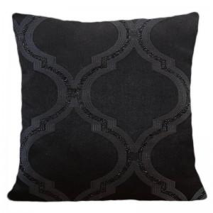 Černí dekorační povlak s třpytivým vzorem vhodná do obývacího pokoje