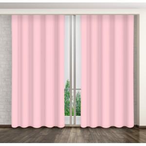Závěsy do obýváku růžové barvy