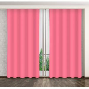 Moderní závěsy tmavě růžové barvy