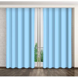 Luxusní jednobarevné závěsy modré barvy