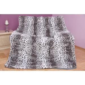 černo bílá deka vzor leopard