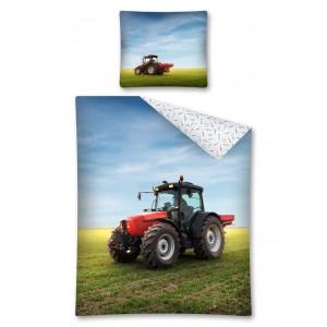 Chlapecké ložní povlečení s traktorem na poli