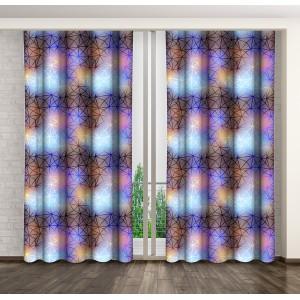 Moderní fialové závěsy do oken