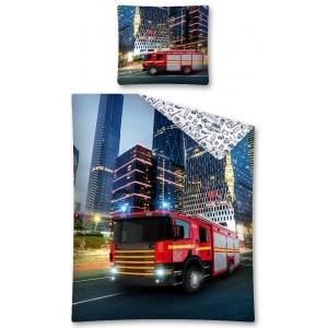 Dětské povlečení s motivem hasičského auta