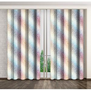 Barevný dekorační závěs do ložnice