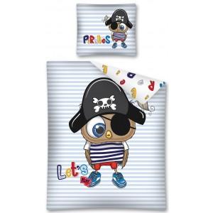 Bavlněné povlečení pro nejmenší děti s pirátem