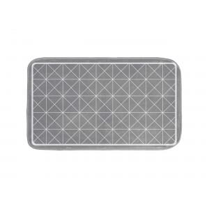 Šedá koupelnová předložka s geometrickými tvary