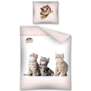 Ložní povlečení pro dívky s třemi koťaty