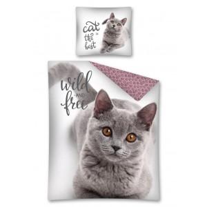 Originální povlečení WILD & FREE s motivem kočky