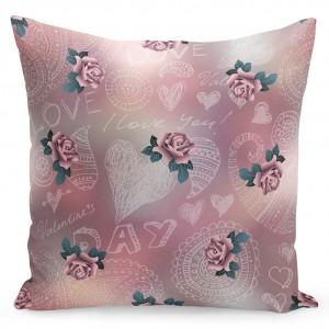 Originální povlak na polštáře s růžemi