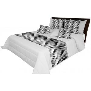Šedé vzorované přehozy na manželskou postel