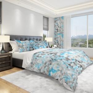 Originální povlečení na postel v šedě modré barvě
