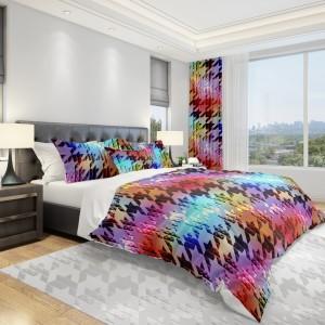 Barevné povlečení na postel s moderním vzorem