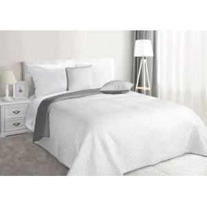 Bílo stříbrný oboustranný přehoz na postel