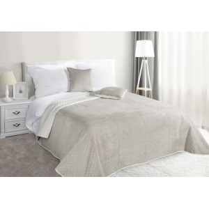Oboustranné přikrývky na postel béžové barvy