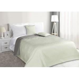 Mátově šedé oboustranné přehozy na postel