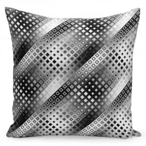 Moderní černobílé povlaky na polštáře