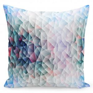 Světle modrý povlak na polštáře s barevným motivem