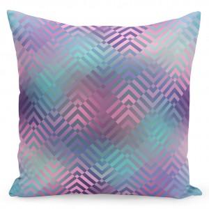 Moderní povlak na polštář ve fialovo modré barvě