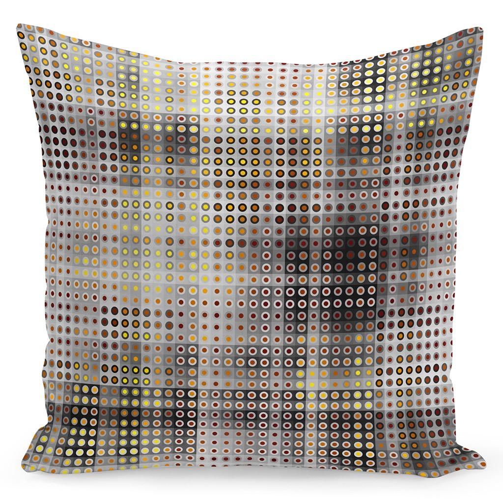 Luxusní povlak na polštáře v béžové barvě s hnědým vzorem