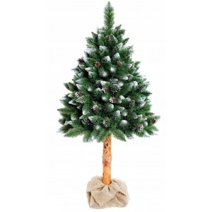 160 cm vysoký umělý vánoční stromek v květináči