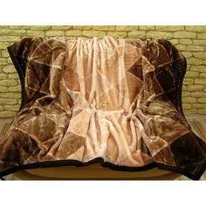 Luxusní deky z akrylu 160 x 210cm hnedá č.17