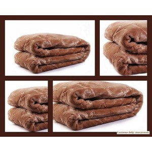 Hřejivá teplá luxusní deka hnědé barvy