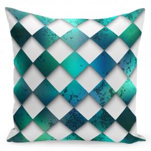 Dekorační povlak na polštáře 45x45 s bílo zeleným vzorem