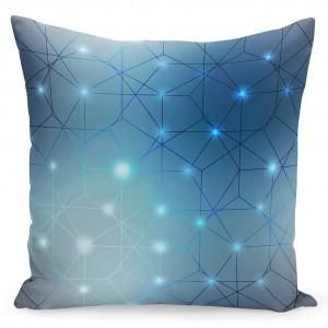 Dekorační povlak na polštáře v rozměru 40x40 v modré barvě