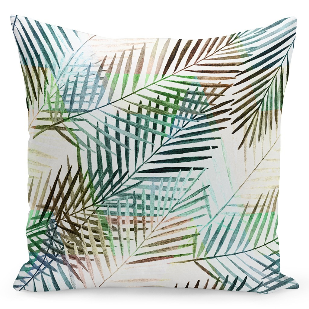 Kvalitní povlak v bílé barvě s barevnými palmovými listy
