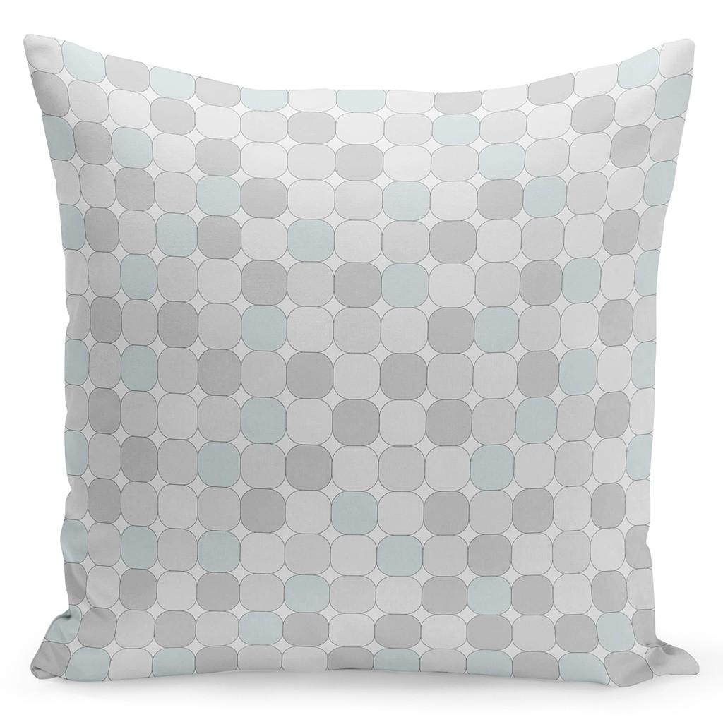Originální povlak na polštáře v rozměru 45x45 cm v šedé barvě